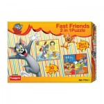 Tom & Jerry 2-in-1 Puzzle Fast Friends