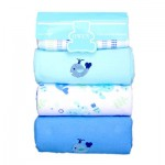 Receiving Blanket Blue 4 pcs set
