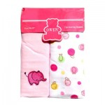 Receiving Blanket Pink 2 pcs set