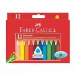 12 Triangular Wax Crayons