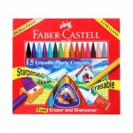 15 Plastic Crayons