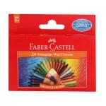 24 Triangular Wax Crayons