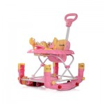 Comfy Music Baby Walker Cum Rocker - Pink