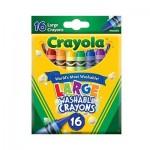 Large Washable Crayons - 16pcs