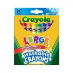 Large Washable Crayons - 8pcs
