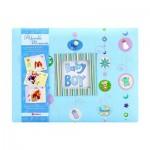 Scrapbook Album For Baby Boys - Blue