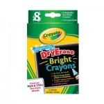 Washable Dry Erase Bright Crayons - 8 Crayons