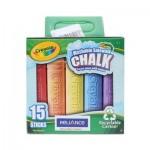 Washable Sidewalk Chalk - 15 Pieces