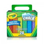 Washable Sidewalk Chalk - 24 Colour Pack