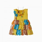 Girls Dress Yellow